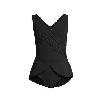 Dutty Peplum One-Piece Swimsuit Chiara Boni La Petite Robe