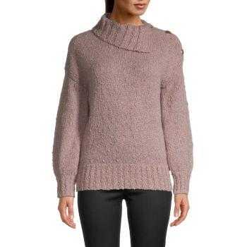 Вязаный свитер с круглым вырезом Trina Turk