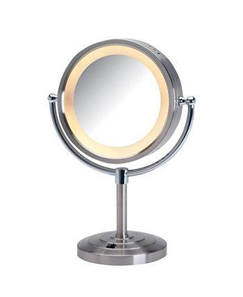 HL745NC 8,5-дюймовое настольное двухстороннее косметическое зеркало с гало-подсветкой Jerdon
