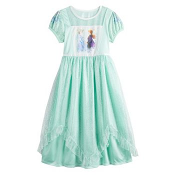 Disney's Frozen 2 Elsa & Anna Girls 4-8 Fantasy Gown Nightgown Disney