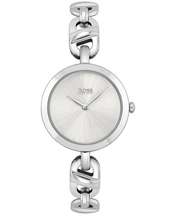 Женские часы с браслетом из нержавеющей стали с цепочкой 28 мм HUGO BOSS