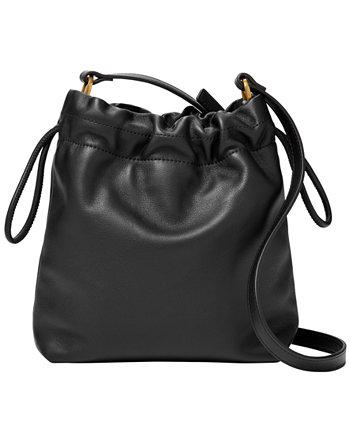 Кожаная сумка через плечо Gigi с кулиской Fossil