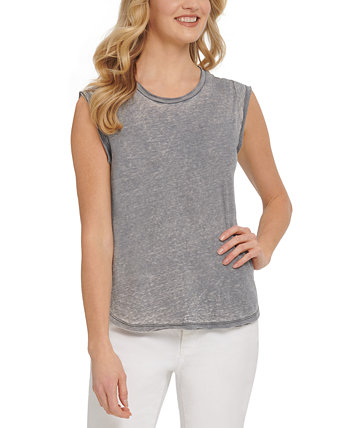 Washed Cap-Sleeve T-Shirt DKNY Jeans