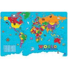 Пазл с образовательной позицией World Foam Map Educational Insights
