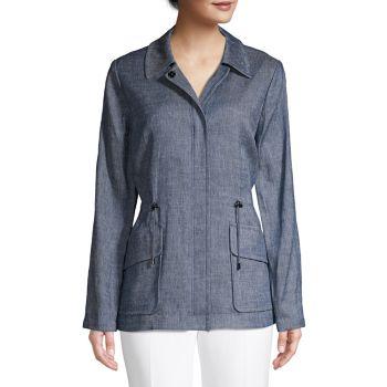 Куртка Helga из смесовой льняной ткани в универсальном стиле Elie Tahari