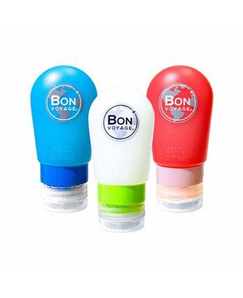 Набор дорожных бутылочек из 3 предметов Bon Voyage