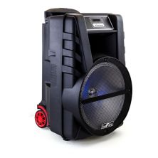beFree Sound 12-Inch Bluetooth Rechargeable Portable PA Party Speaker with Reactive LED Lights BeFree Sound
