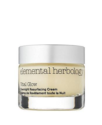 Vital Glow Ночной омолаживающий крем для лица, 1,7 жидкой унции Elemental Herbology