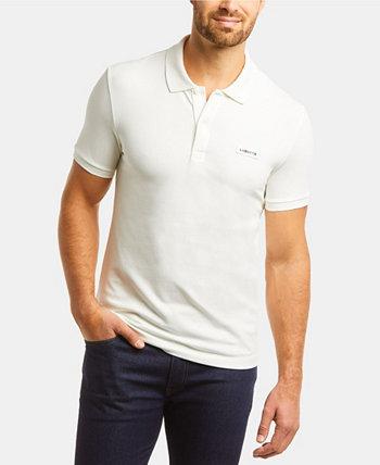 Мужская облегающая рубашка-поло из эластичного хлопка с короткими рукавами и логотипом Lacoste Retro Lacoste