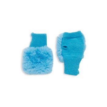Шарф и шарф из искусственного меха, протягивающиеся сквозь него Набор варежек Texty Time JOCELYN