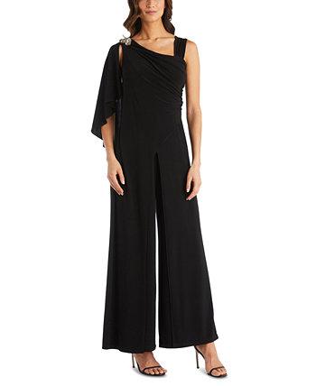 One-Shoulder Embellished Jumpsuit R & M Richards