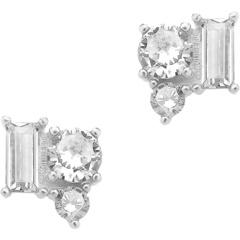 Серьги-гвоздики из стерлингового серебра с кристаллами CZ Sterling Forever