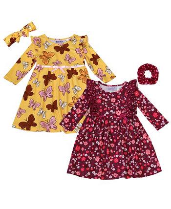 Комплект вкусного платья из 4 предметов для маленьких девочек Blueberi Boulevard
