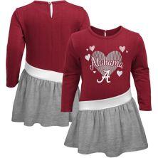 Girls Preschool Crimson Alabama Crimson Tide Heart French Terry Dress Outerstuff