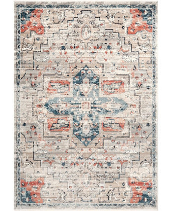 """Delicate Astra Persian Vintage-Inspired Blue 6'7"""" x 9' Area Rug NuLOOM"""