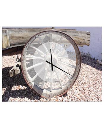 Крупногабаритные металлические настенные часы Designart для фермерского дома Design Art