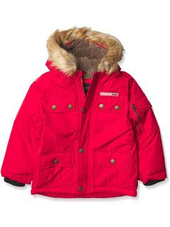 Теплое зимнее пальто-парка с уютным отороченным капюшоном London Fog