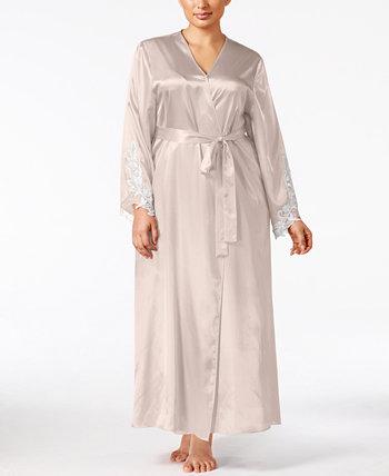 Атласный халат больших размеров Stella Flora Nikrooz Collection