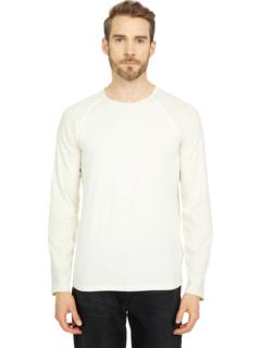 Бейсбольная футболка с длинным рукавом из хлопкового белья Billy Reid