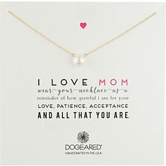 Я люблю маму жемчужное ожерелье Dogeared