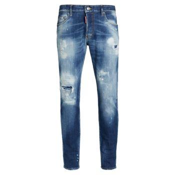 Skater Distressed Skinny Jeans DSQUARED2