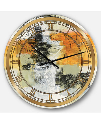 Гламурные большие металлические настенные часы Designart