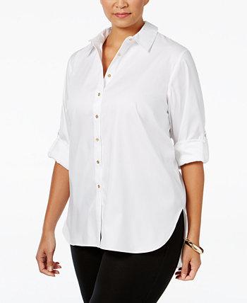 Рубашка больших размеров с пуговицами спереди Calvin Klein