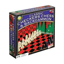Classic Checkers, Chess & Backgammon Game Set by Endless Games  Endless Games