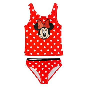 Disney's Minnie Mouse Girls 4-6x Tankini Top & Bottoms Swimsuit Set Licensed Character