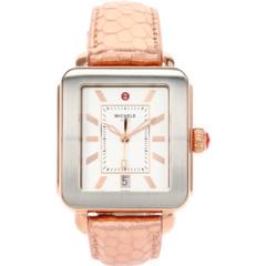 Часы Deco Sport Pink Gold с тиснением под розовую кожу Michele