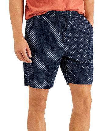 Мужские шорты комфортного кроя в фактурный горошек Michael Kors