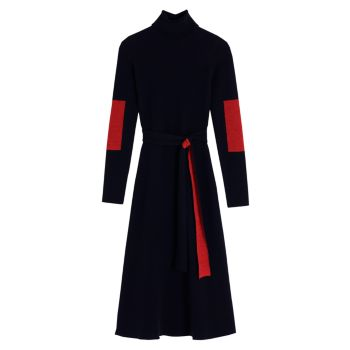 Вязаное платье миди с цветными блоками Victoria Beckham