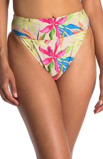 Плавки бикини с завышенной талией и цветочным принтом Summer Feels VYB