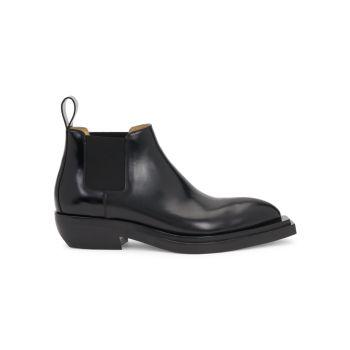 Кожаные ботинки челси с чизелем Bottega Veneta