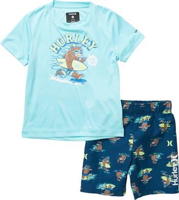Рубашка Surfin Bear и комплект шорт Hurley