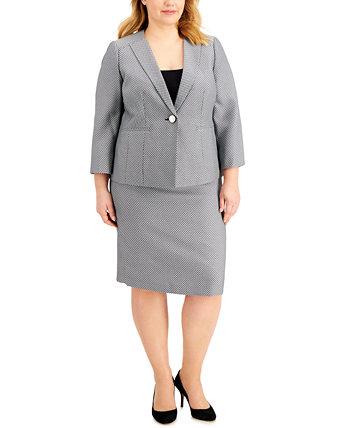 Костюм с жаккардовой юбкой больших размеров Le Suit