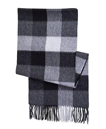 Женский шарф в клетку из шерсти альпака и буйвола Simply Natural