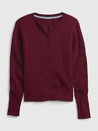 Kids 100% Organic Cotton Uniform Cardigan Gap