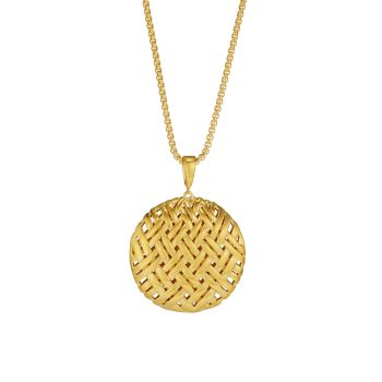 Длинное ожерелье с подвеской Bali, покрытое желтым золотом, 22 карат DEAN DAVIDSON