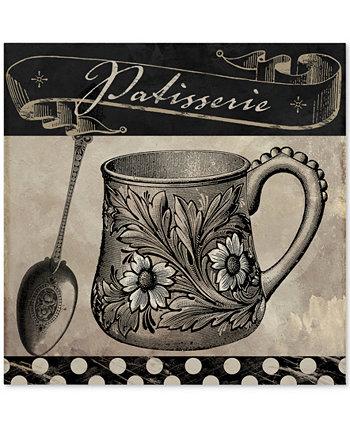 Холст Color Bakery 'Bistro Parisienne III' - 18 дюймов x 2 дюйма x 18 дюймов Trademark Global