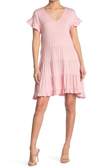 Многослойное платье с V-образным вырезом Angie