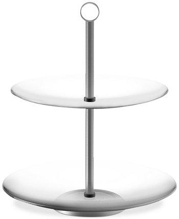 Двухъярусный круглый стакан для десертов от шеф-повара Бадди, 9,75 дюйма x 9,75 дюйма x 11,25 дюйма Trademark Global