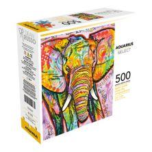 Aquarius Watercolor Elephant 500-Piece Puzzle Aquarius