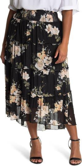 Tiered Hi-Low Maxi Skirt American Rag