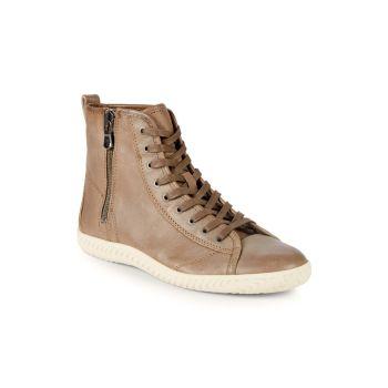 Star Leather High Top Sneakers John Varvatos Star U.S.A.