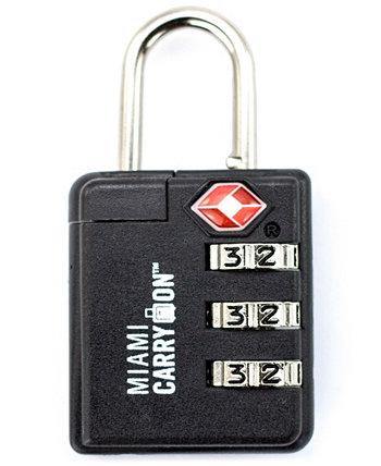 Комбинированный замок для багажа, одобренный TSA для ручной клади Майами Miami CarryOn