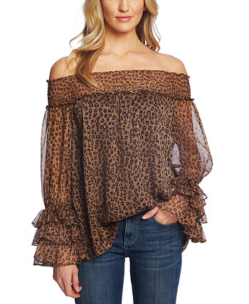 Petite Ruffled Off-the-Shoulder Top CeCe