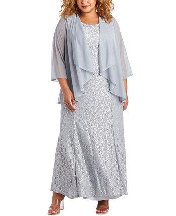 Платье большого размера и прозрачное наложение R & M Richards