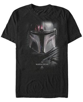 Мужская футболка Mandalorian Big Face Helmet Star Wars