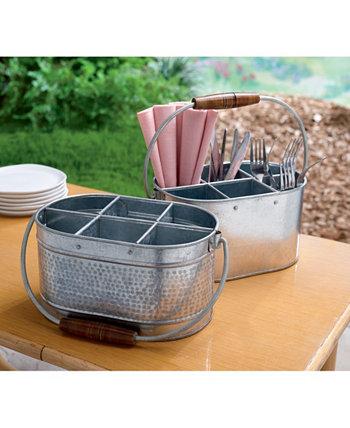 KINDWER Набор из 2 оцинкованных металлических держателей для посуды St. Croix